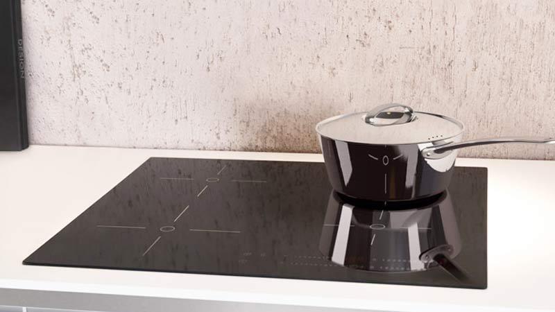 Cocina con placas de induccion