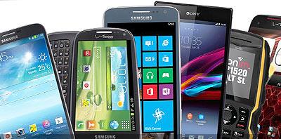 celulares y smarthones LG, Sony, Samsung, iPhone y Nokia