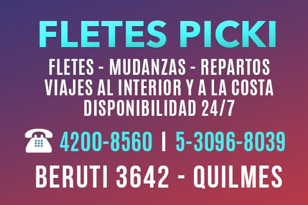 Fletes Picki, fletes y Mudanzas en Quilmes