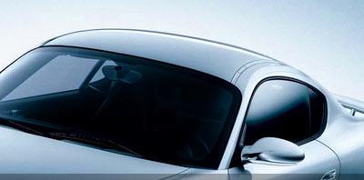Auto con vidrios polarizados